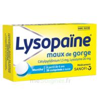 LysopaÏne Comprimés à Sucer Maux De Gorge Sans Sucre 2t/18 à THONON-LES-BAINS