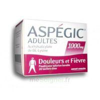 Aspegic Adultes 1000 Mg, Poudre Pour Solution Buvable En Sachet-dose 20 à THONON-LES-BAINS