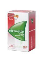 Nicorette 2 Mg Gomme à Mâcher Médicamenteuse Sans Sucre Fruits Plq/105 à THONON-LES-BAINS