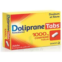 Dolipranetabs 1000 Mg Comprimés Pelliculés Plq/8 à THONON-LES-BAINS