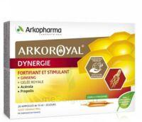 Arkoroyal Dynergie Ginseng Gelée Royale Propolis Solution Buvable 20 Ampoules/10ml à THONON-LES-BAINS