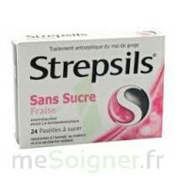 Strepsils Fraise Sans Sucre, Pastille édulcorée à L'isomalt, Au Maltitol Et à La Saccharine Sodique à THONON-LES-BAINS