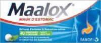 Maalox Hydroxyde D'aluminium/hydroxyde De Magnesium 400 Mg/400 Mg Cpr à Croquer Maux D'estomac Plq/40 à THONON-LES-BAINS