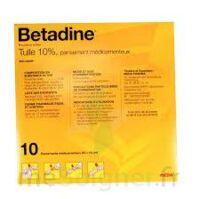 Betadine Tulle 10 % Pans Méd 10x10cm 10sach/1 à THONON-LES-BAINS