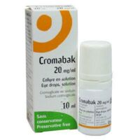 Cromabak 20 Mg/ml, Collyre En Solution à THONON-LES-BAINS
