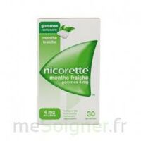 Nicorette 4 Mg Gom à Mâcher Médic Sans Sucre Menthe Fraîche Plq/30gom à THONON-LES-BAINS