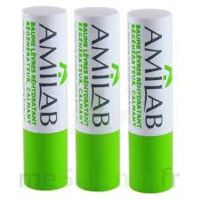 Amilab Baume Labial Réhydratant Et Calmant Lot De 3 à THONON-LES-BAINS