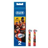 Oral B Incredibles 2 Brossette Kids Blister/2 à THONON-LES-BAINS