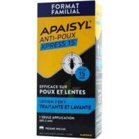 Apaisyl Anti-poux Xpress 15' Lotion Antipoux Et Lente 200ml+peigne à THONON-LES-BAINS
